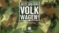 """Bundeswehr – Anzeige """"Volkswagen"""", Quelle: Bundeswehr"""