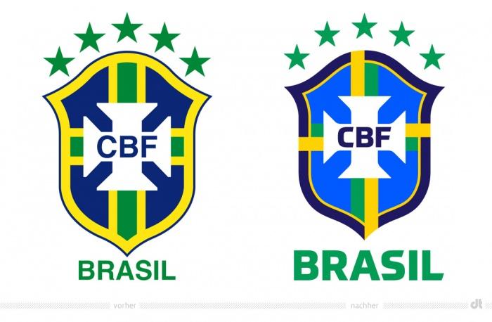 CBF Brasil Logo – vorher und nachher