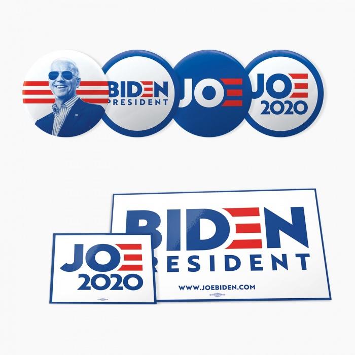 Joe Biden Campaign – Button, Sticker, Quelle: joebiden.com