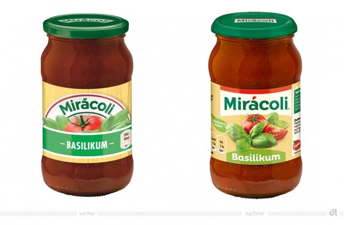Miracoli Basilikum – vorher und nachher