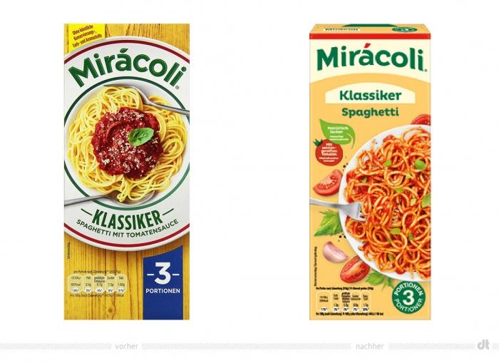 Miracoli Klassiker – vorher und nachher