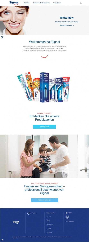 Signal Zahnpflege Website