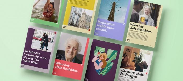 Stadt Wien Corporate Design – Broschüren, Quelle: Stadtverwaltung Wien