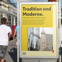 Stadt Wien Corporate Design – Plakat, Quelle: Stadtverwaltung Wien