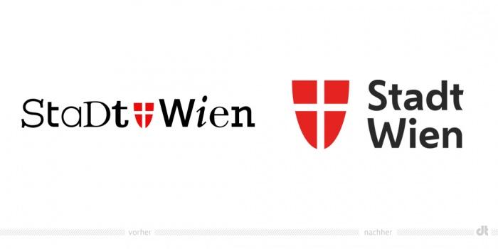 Stadt Wien Logo – vorher und nachher