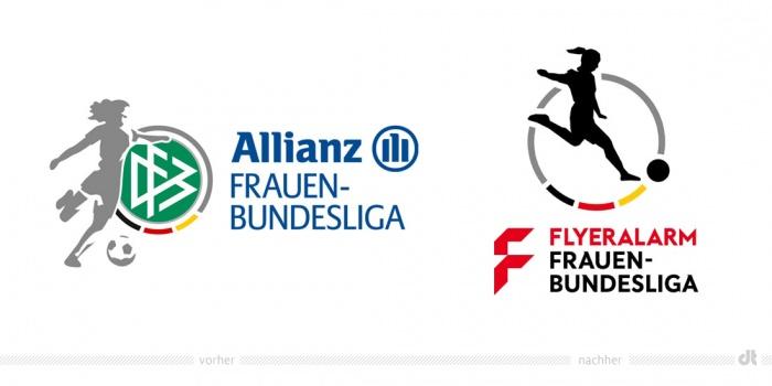 Frauen-Fußball-Bundesliga Logo – vorher und nachher