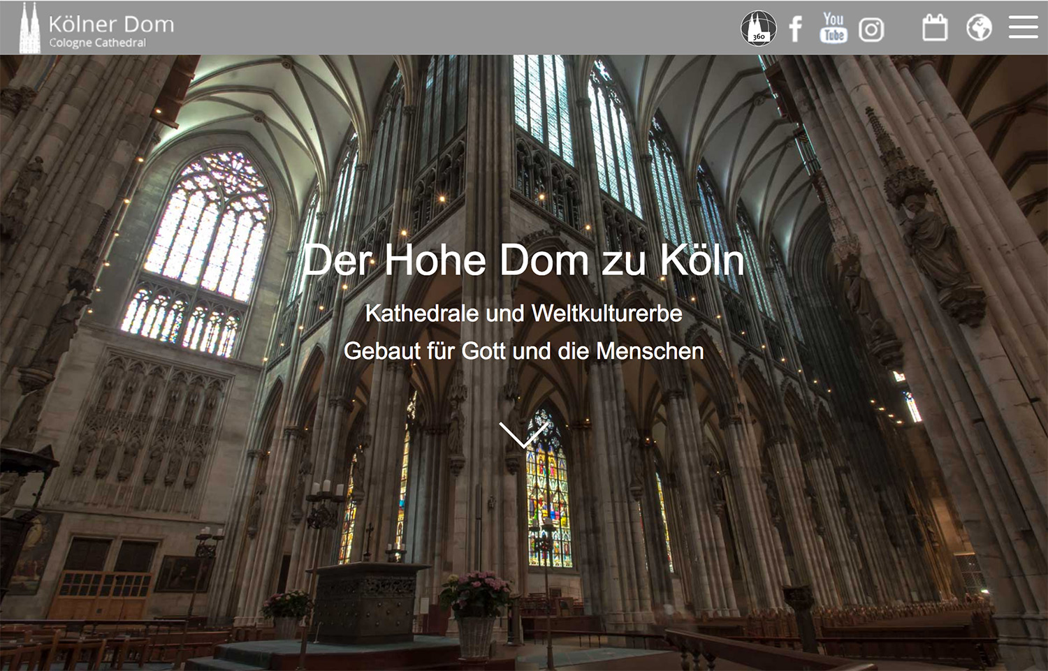 Kölner Dom Website