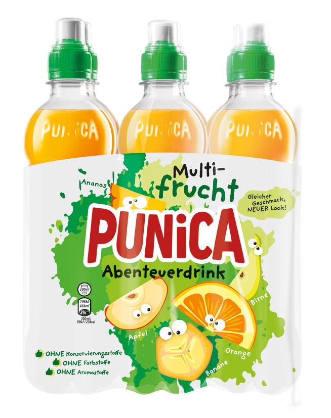Punica Abenteuer Multifrucht PET 6 x 500ml, Quelle: PepsiCo Deutschland