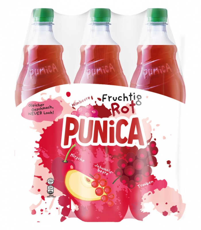 Punica Classic Fruchtig Rot PET 6 x 1250ml, Quelle: PepsiCo Deutschland