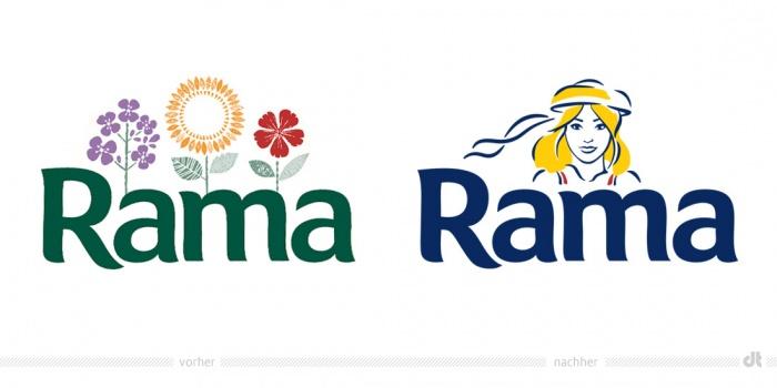 Rama Logo – vorher und nachher