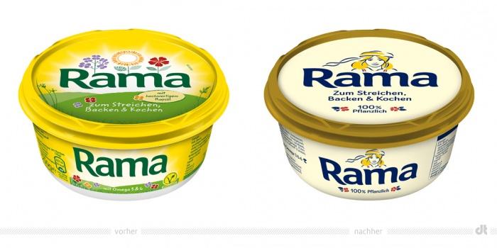 Rama Margarine – vorher und nachher