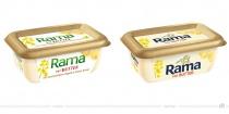 Rama mit Butter – vorher und nachher