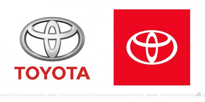 Toyota USA Logo – vorher und nachher