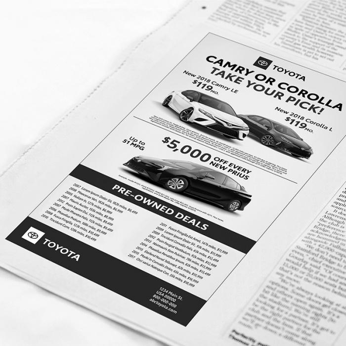 Toyota Logos – Newspaper, Quelle: Toyota USA