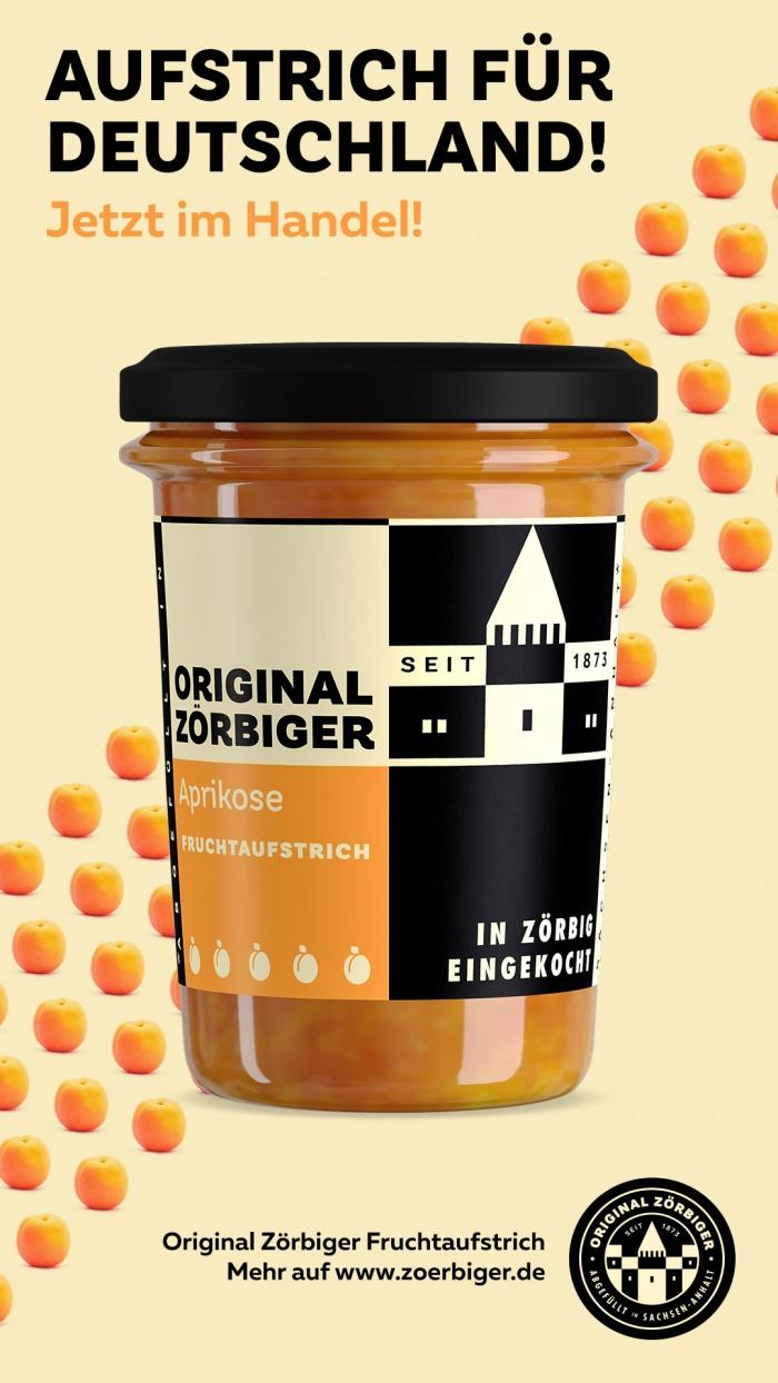 Zörbiger Aprikose – Werbemotiv, Quelle: Zuegg