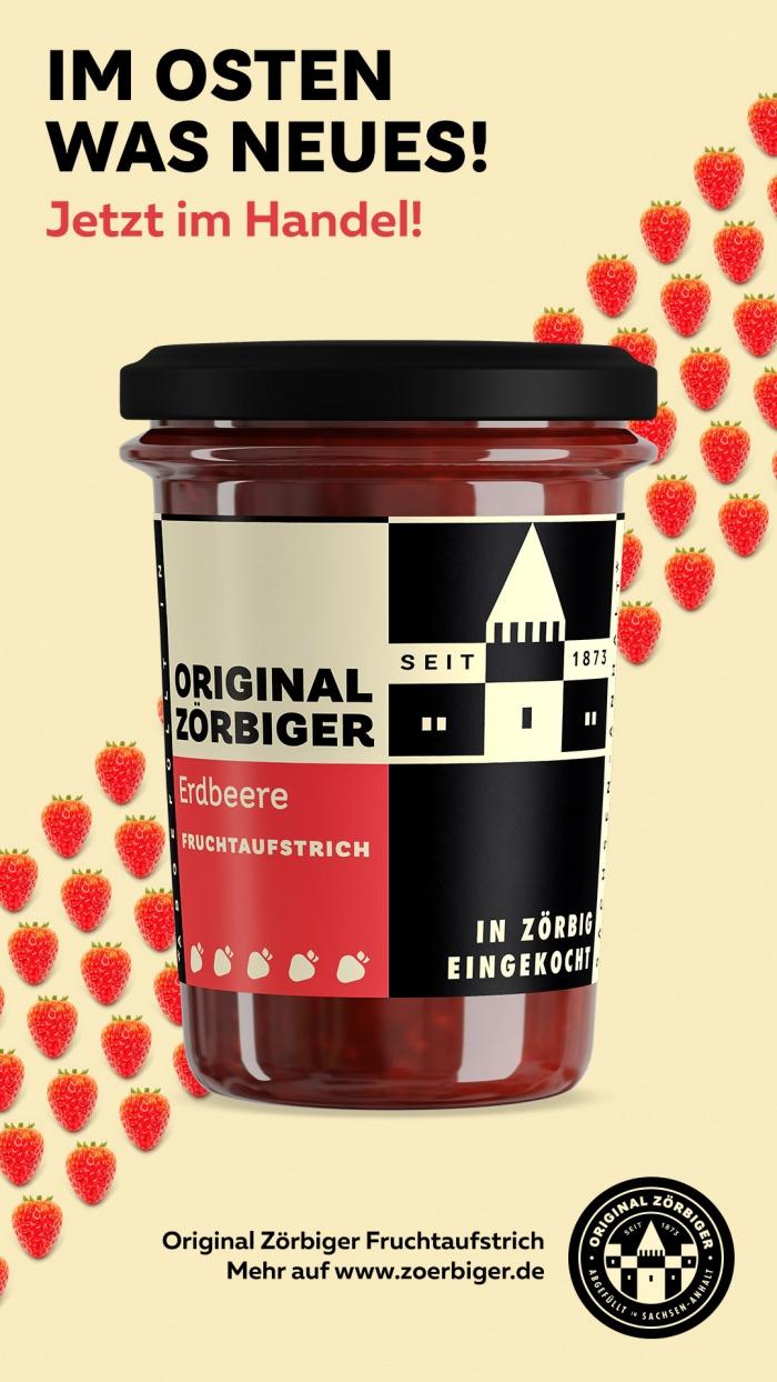Zörbiger Erdbeer – Werbemotiv, Quelle: Zuegg