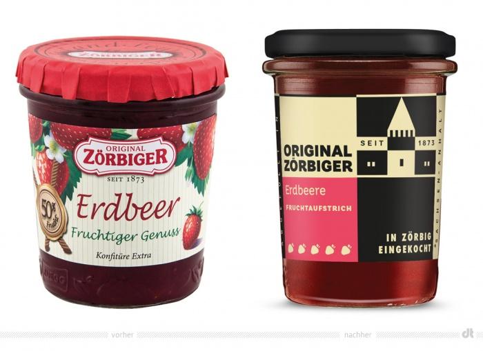 Zörbiger Erdbeer – vorher und nachher