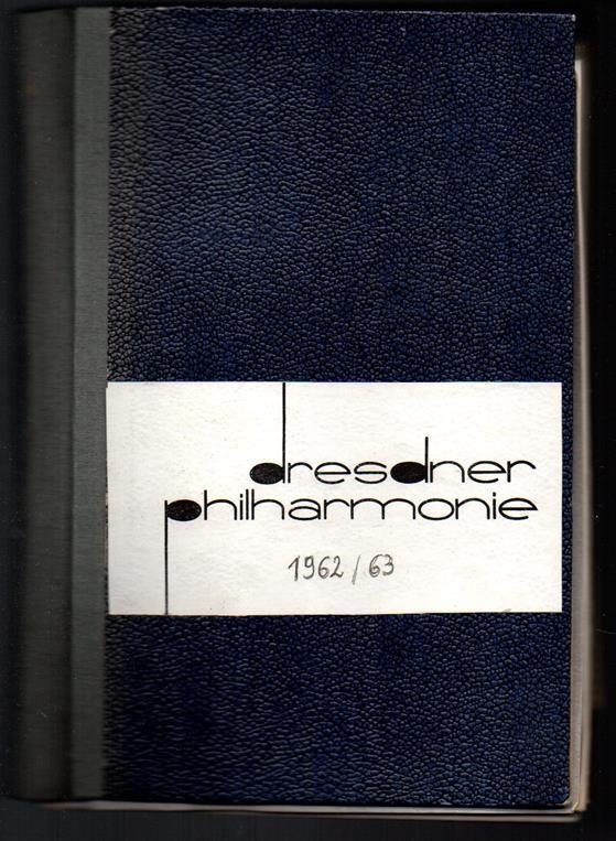 Dresdner Philharmonie Konzertplan 1962/1963