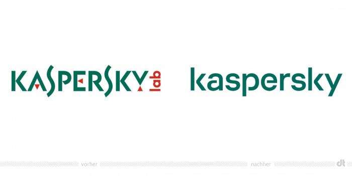Kaspersky Logo – vorher und nachher
