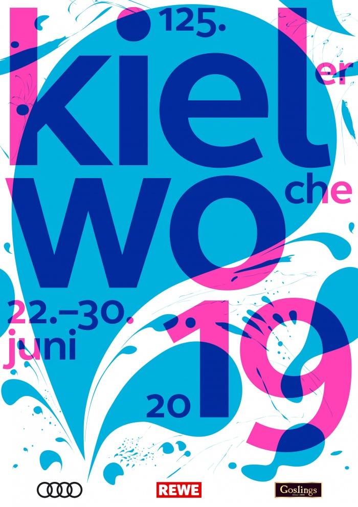 Kieler Woche 2019 Plakat, Quelle: Stadtverwaltung Kiel