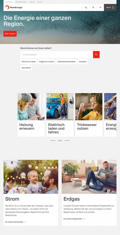 RheinEnergie Website