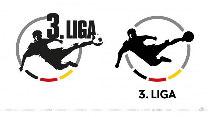 3. Liga Logo – vorher und nachher