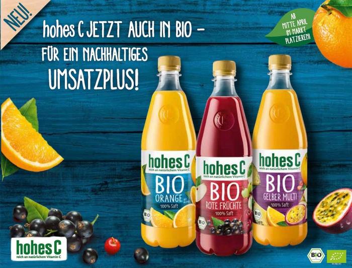 hohes C Bio Salesfolder, Quelle: Eckes-Granini Deutschland GmbH