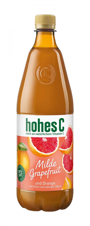 hohes C, 1l PET Flasche, Quelle: Eckes-Granini Deutschland GmbH