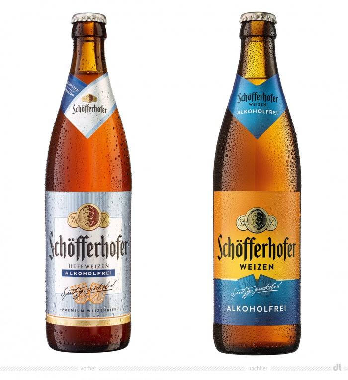 Schöfferhofer Hefeweizen alkoholfrei – vorher und nachher