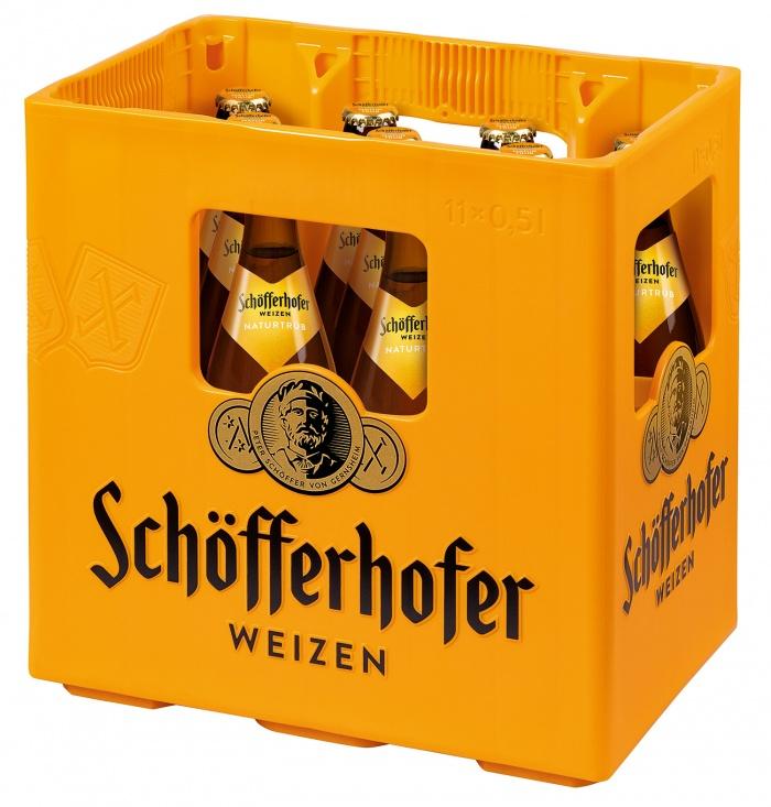 Schöfferhofer Weizen Kasten, Quelle: Radeberger Gruppe