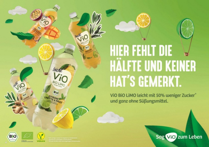 ViO Bio Limo Anzeige, Quelle: Coca Cola Deutschland