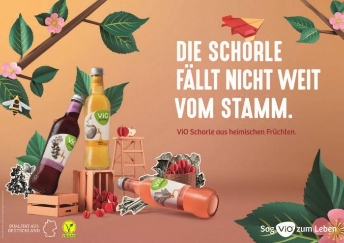 ViO Schorle Anzeige, Quelle: Coca Cola Deutschland