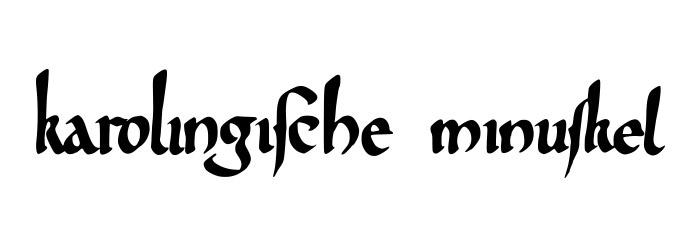 karolingische Minuskel