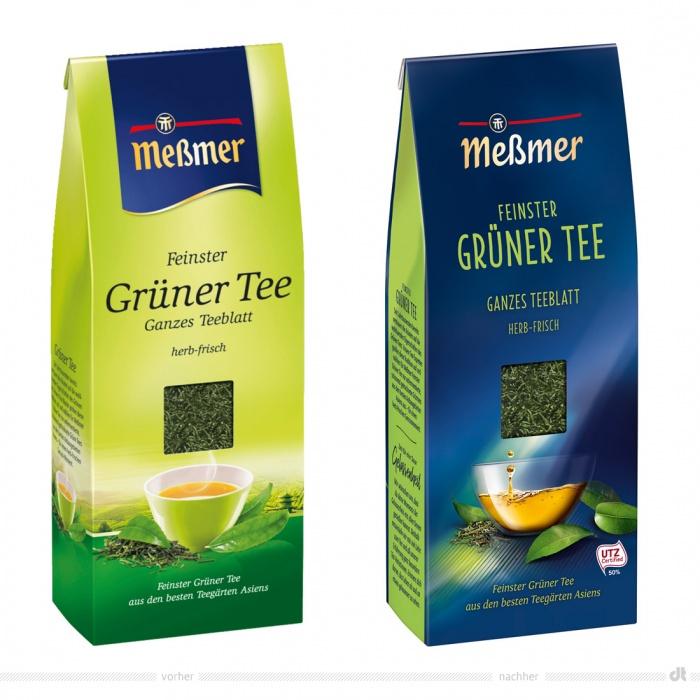 Meßmer Grüner Tee lose – vorher und nachher