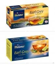 Meßmer Tee Earl Grey Verpackung – vorher und nachher