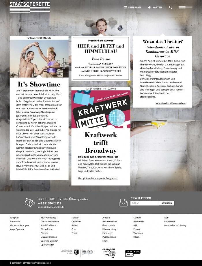Staatsoperette Dresden – Website