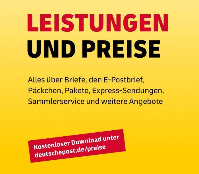 Deutsche Post: Leistungen und Preise – neue Hausschrift Delivery, Quelle: Deutsche Post