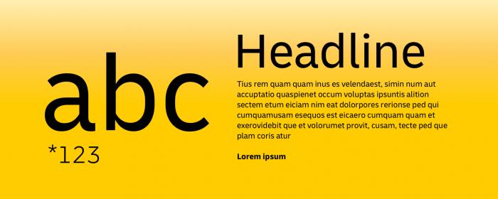 Deutsche Post Typografie, Quelle: Deutsche Post AG