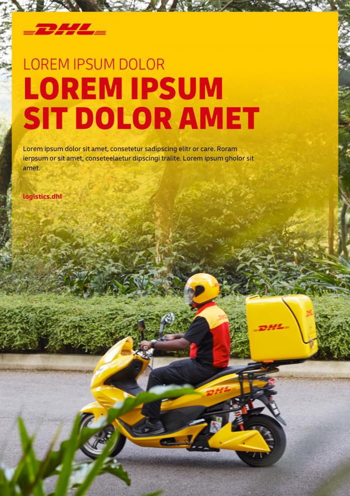 DHL Typo Print, Quelle: Deutsche Post AG
