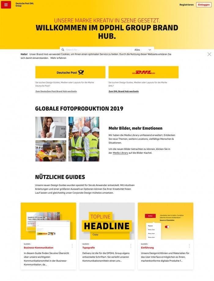 DPDHL GROUP BRAND HUB, Quelle: Deutsche Post AG