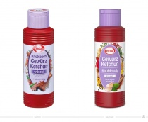 Hela Gewürz Ketchup Knoblauch – vorher und nachher