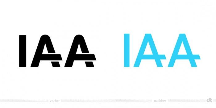 IAA Logo – vorher und nachher
