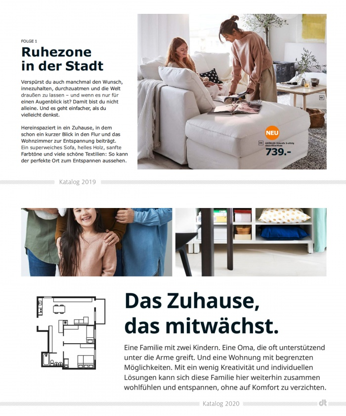 IKEA-Katalog 2019 und 2020 – Vergleich Typo