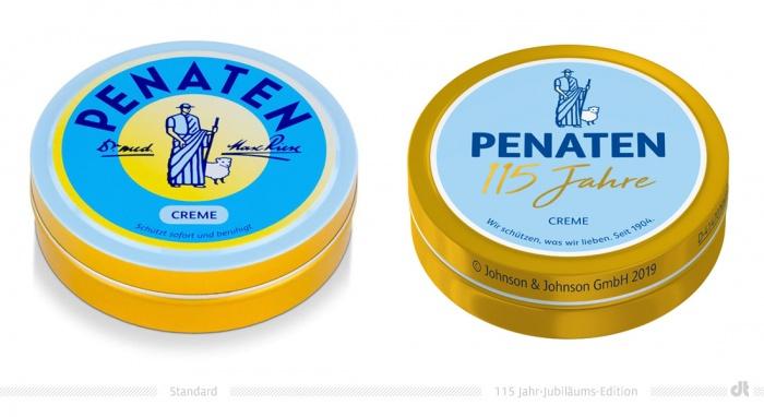 Penaten Creme Dose – Standard und 115-Jahr-Jubiläums-Edition