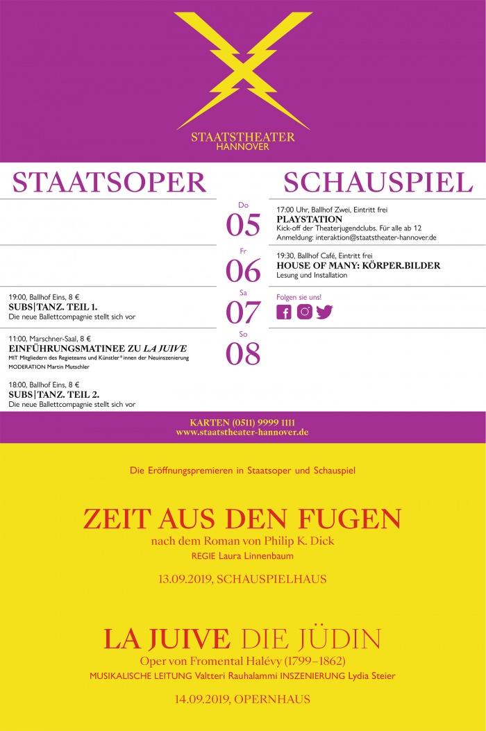 Anzeige Staatstheater Hannover, Quelle: HAZ
