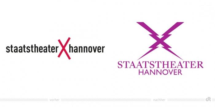 Staatstheater Hannover Logo – vorher und nachher