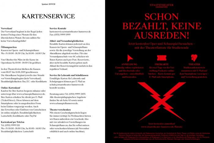 Staatstheater Hannover Spielzeitheft 2019/20 – Schauspiel, Quelle: Staatstheater Hannover