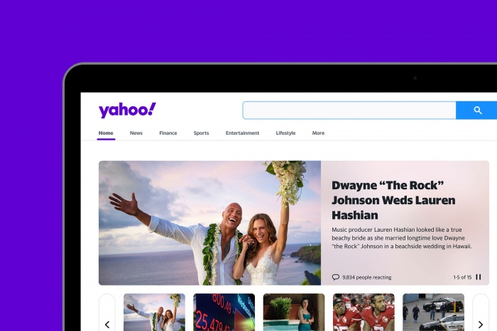 Yahoo! Desktop – New Design (2019), Quelle: Pentagram/Bierut