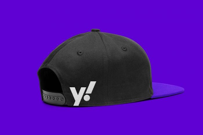 Yahoo! Cap – New Design (2019), Quelle: Pentagram/Bierut