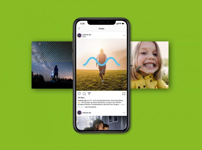 Avacon Corporate Design – Social Media, Quelle: MetaDesign